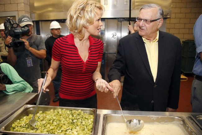 Sheriff Joe and Pamela Anderson